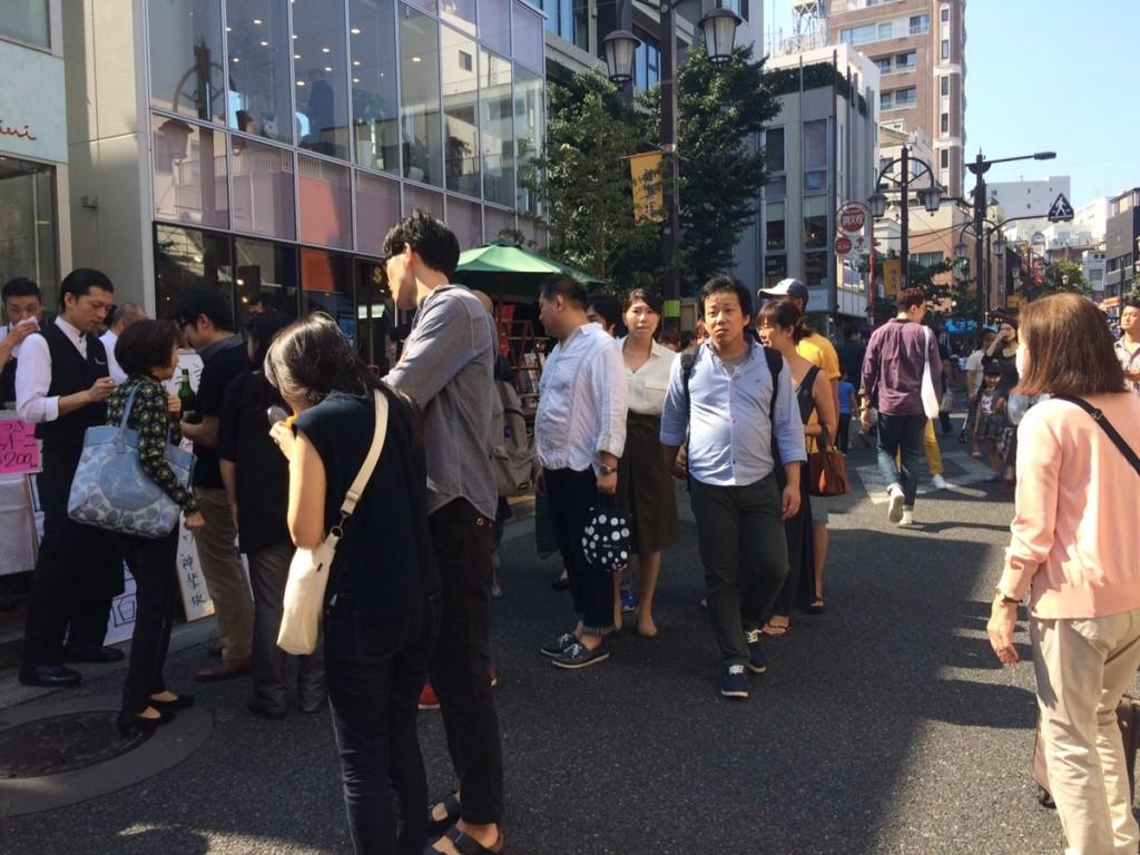 神楽坂の商店街では、しばしばイベントが開催されます。